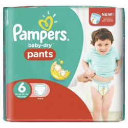 23 Couches Pampers Baby Dry Pants taille 6