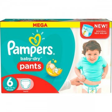 115 Couches Pampers Baby Dry Pants taille 6