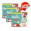 138 Couches Pampers Baby Dry Pants taille 6
