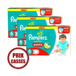 184 Couches Pampers Baby Dry Pants taille 6