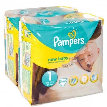 672 Couches Pampers New Baby Premium Protection taille 1