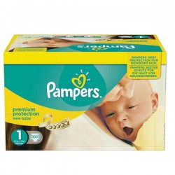 960 Couches Pampers New Baby Premium Protection taille 1