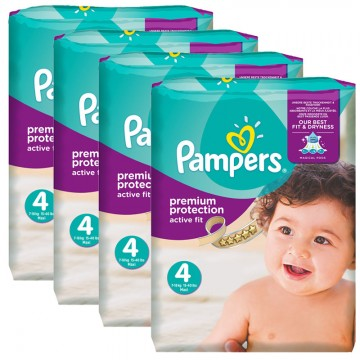 1344 Couches Pampers Active Fit Premium Protection taille 4