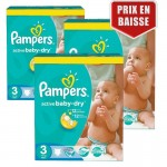 328 Couches Pampers Active Baby Dry taille 3