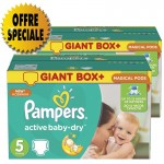 420 Couches Pampers Active Baby Dry taille 5