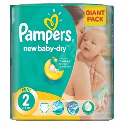 144 Couches Pampers New Baby Dry taille 2