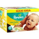 Pack jumeaux 576 Couches Pampers New Baby Dry taille 2