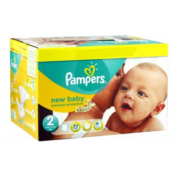 1008 Couches Pampers New Baby Dry taille 2