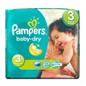 116 Couches Pampers Baby Dry taille 3