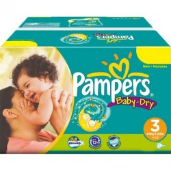 580 Couches Pampers Baby Dry taille 3