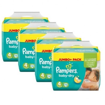 528 Couches Pampers Baby Dry taille 4