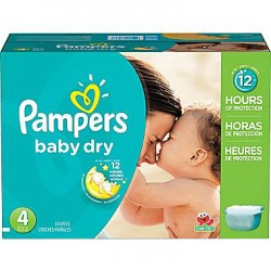 616 Couches Pampers Baby Dry taille 4