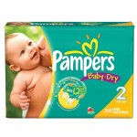 116 Couches Pampers Baby Dry taille 2