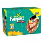 174 Couches Pampers Baby Dry taille 2