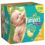 348 Couches Pampers Baby Dry taille 2