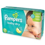 406 Couches Pampers Baby Dry taille 2