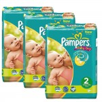 464 Couches Pampers Baby Dry taille 2