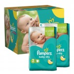 754 Couches Pampers Baby Dry taille 2