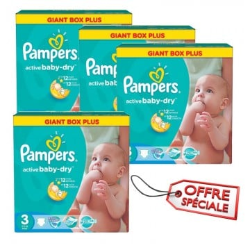 150 Couches Pampers Active Baby Dry taille 3