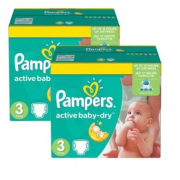 165 Couches Pampers Active Baby Dry taille 3