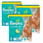 210 Couches Pampers Active Baby Dry taille 3