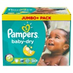 672 Couches Pampers Baby Dry taille 5+