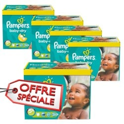 840 Couches Pampers Baby Dry taille 5+
