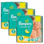 1152 Couches Pampers New Baby Dry taille 2