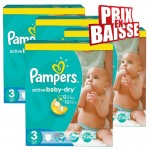 1020 Couches Pampers Active Baby Dry taille 3