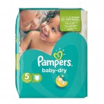 76 Couches Pampers Baby Dry taille 5