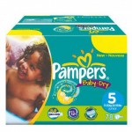 608 Couches Pampers Baby Dry taille 5