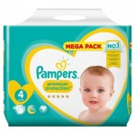 24 Couches Pampers New Baby Premium Protection taille 4