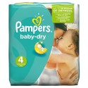 25 Couches Pampers Baby Dry taille 4