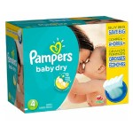 100 Couches Pampers Baby Dry taille 4