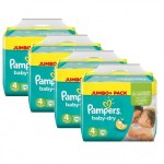 125 Couches Pampers Baby Dry taille 4