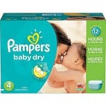 200 Couches Pampers Baby Dry taille 4