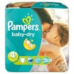 225 Couches Pampers Baby Dry taille 4