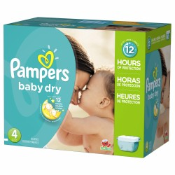 325 Couches Pampers Baby Dry taille 4