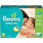 600 Couches Pampers Baby Dry taille 4