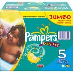 186 Couches Pampers Baby Dry taille 5