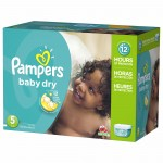 372 Couches Pampers Baby Dry taille 5