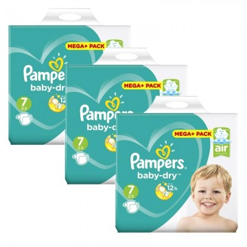 290 Couches Pampers Baby Dry taille 7