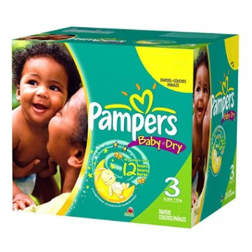 210 Couches Pampers Baby Dry taille 3