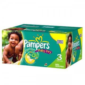 240 Couches Pampers Baby Dry taille 3