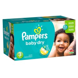 330 Couches Pampers Baby Dry taille 3