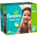 390 Couches Pampers Baby Dry taille 3