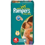 49 Couches Pampers Baby Dry taille 4