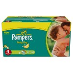 196 Couches Pampers Baby Dry taille 4