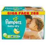735 Couches Pampers Baby Dry taille 4