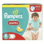 38 Couches Pampers Baby Dry Pants taille 6